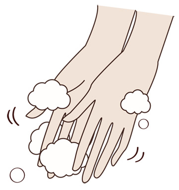 クレンジング 方法 手を洗う