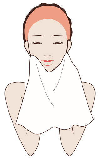 清潔なタオルで優しく水気を取る